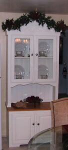 Arched top Solid Pine and with solid Oak sideboard Hutch