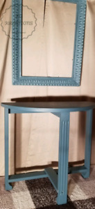 Half Moon Table & Matching Frame for sale  Frericton