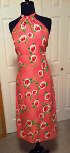 Pink and Red Halter Sundress