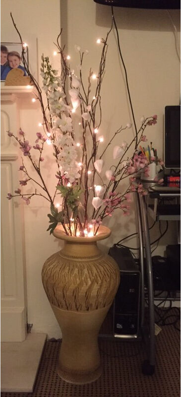 Large Vase Includes Flowers Twig Lights 24 High In Plymouth