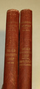 2 Books - The Works of Charles Dickens, The Old Curiosity Shop