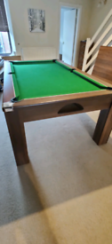 7'x 4' slate Pool / Dining table with 6 chairs