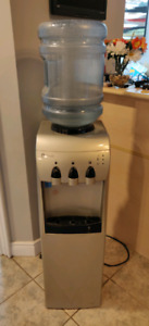 GE Profile hot and cold water dispenser with mini fridge