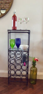 Pottery Barn Iron Wine Rack or Bar Table.