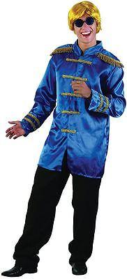 Sgt Pepper Jacke, Blau, Erwachsene Kostüme, 1960s Beetles Fab 4 - Blau Sgt Pepper Kostüm