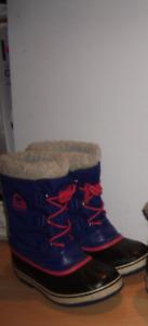 """"""" SOREL """"   winter boots --- bottes d'hiver  ----  size  3  US"""