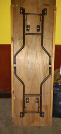 Wooden Trestle Banqueting Table Folding Wishbone legs Plywood