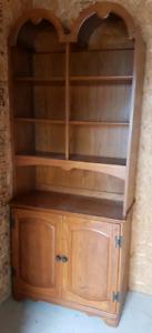 Solid Wood Hutch / Armoir 2 Piece