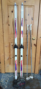 Cross Country Skis 170 cm, boots and poles