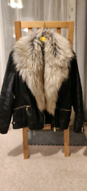 River Island girls faux leather coat 12 years