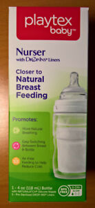 Playtex Nurser Baby Bottles w/ Drop-Ins Liners BNIB 12 available