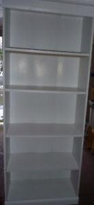 "White 5 Shelf Bookcase/Storage Unit-- 6' high x 28"" wide"