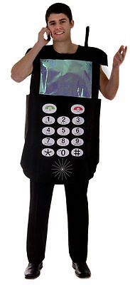MOBILE PHONE MAN ADULT HALLOWEEN FANCY DRESS COSTUME 1 SIZE FITS ALL STAG NIGHT