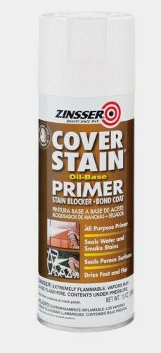 Zinsser COVER STAIN 13 oz. Primer & Sealer Oil-Based Spray Flat White 3608 NEW!!