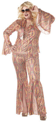 Brand New Plus Size DiscoLicious Dancing Disco Groovy Adult Halloween Costume](Plus Size Disco Costume)