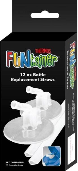 BNIB: Thermos Replacement Straws for 12 Ounce Funtainer Bottle, Clear