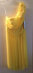 Short Yellow One Strap Dress NEVER WORN(tags still on) $140 OBO