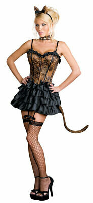 NEW SEXY Halloween COSTUME Cat BONJOUR KITTY Adult CatWoman Naughty Cosplay S - Naughty Kitty Costume