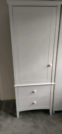 M&S white single wardrobe