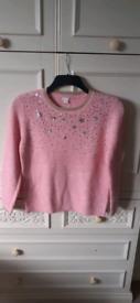 Brand new monsoon pink jumper 12-13 yrs