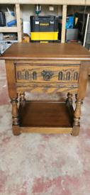 Solid oak dark wood cabinet good condition