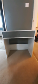 Glossy white and grey Desk