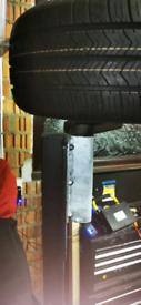 Brand new axle, suspension and mini wheels for trailer conversion