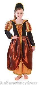 Girls-Medieval-Tudor-Gothic-Queen-Anne-Boleyn-Historical-Costume-Fancy-Dress