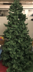 """7.5 foot, 52"""" wide Artificial Christmas tree."""