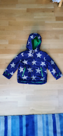 Boden Blue Coat with Stars, Size 3-4 years