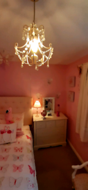 LAURA ASHLEY PINK CHANDELIER