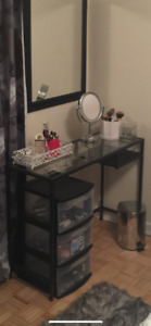 ikea laptop/makeup table