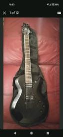 Cort Z44 Les Paul Shape Guitar. Black Z-44.