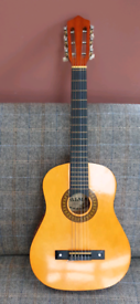 Half Size Acoustic Guitar With Carry Bag.