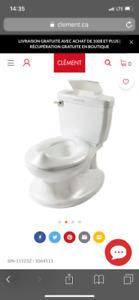 Petit pot / vraie toilette pour arrêter les couches