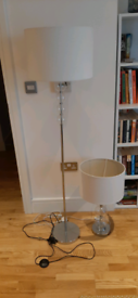 Matching floor and table lamps - **new lower price**
