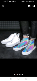 Glow in the Dark high top mids shoes unisex size 42 size UK 8