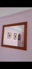 Large Solid Wood Framed Mirror