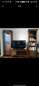 Bookshelf TV stand and showcase