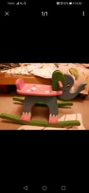 Wooden elephant rocker