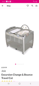 Joue excursion change and bounce travel cot