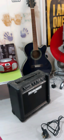 Electric Acoustic Guitar with Amp