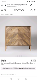 Swoon chest of drawers