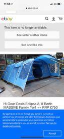Oasis 8 elite camping tent