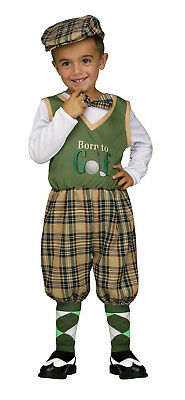 Fun World Retro Lil Golfer Baby Toddler Costume Small 24 months-2T Born to Golf (Baby Golf Costume)