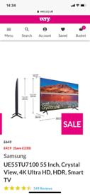 "Samsung 55"" 4K smart tv"