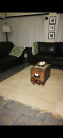 TWO 4 seater leather sofas