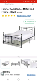 SOLD - Double bed