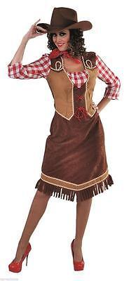 Cow Girl Kostüm Kleid Wilder Westen Saloon Damen Cowgirlkostüm Indianer