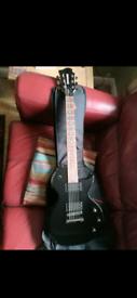 Fernandes monterey black guitar. Les Paul shape.